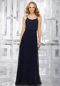 chiffon bridesmaids dress with matching tie sash style