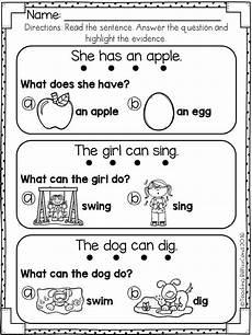 reading worksheets for kindergarten 18445 reading comprehension for early reader set 1 teaching preschool reading comprehension