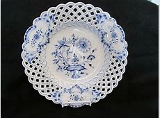 Details about Meissen ~ HP Blue Onion ~ Reticulated