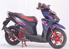Modif Simple Vario 150 by Modifikasi Vario 150 Simple Dengan Velg Jari Jari Ring 17