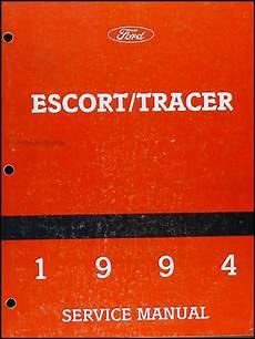 1994 ford probe repair shop manual original 1994 ford escort and mercury tracer repair shop manual original