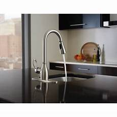 moen kleo kitchen faucet kleo one handle high arc lead compliant kitchen faucet wayfair