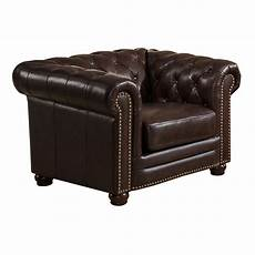 amax kensington top grain leather chesterfield sofa and