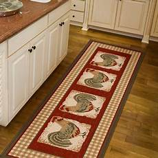 Kitchen Area Rugs Walmart by Orian Country Rooster Runner Rug 1 11 Quot X 6