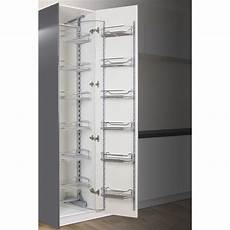 Kitchen Drawers Flat Pack by Kaboodle 450mm Chrome 6 Tier Pantry Pullout Baskets