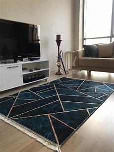 waschbare teppiche waschbarer teppich geometrisches design petrol caimas 5800