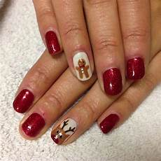 brush up and polish up cnd shellac christmas nail art