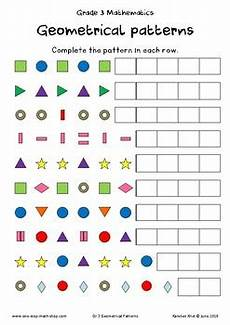 patterns math worksheets grade 3 163 geometric patterns grade 3 by karelien s one stop math shop tpt