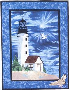 lighthouse quilt wall hanging pattern applique design