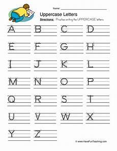 worksheets letter writing 24540 uppercase letters writing worksheet teaching