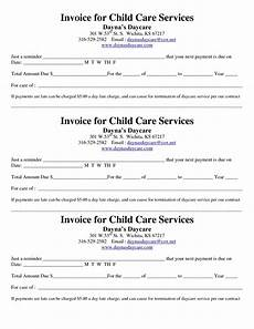 child care receipt invoice invoice template invoice