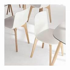chaise design en polypropyl 232 ne lottus pieds bois enea
