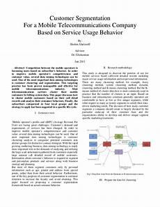 mobile telecommunications co customer segmentation for a mobile telecommunications