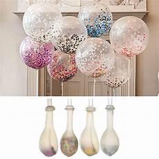 ballons mit konfetti 20 stk luftballons 40cm ballons mit hellen konfetti f 252 r