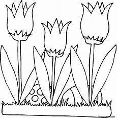 printable easter eggs and flowers lilies coloring page for