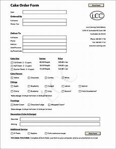 cake order receipt template cake order form template free sle order templates