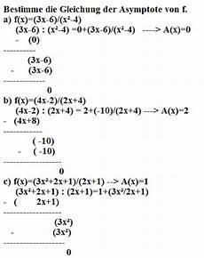 asymptote berechnen f mathelounge
