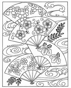 japanese fan japan coloring pages