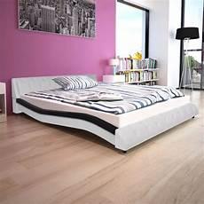 bett matratze bett mit matratze kunstleder 160x200 cm schwarz gitoparts