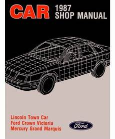 car service manuals pdf 1987 mercury grand marquis navigation system 1987 ford crown victoria lincoln town car mercury grand marquis body chassis electrical