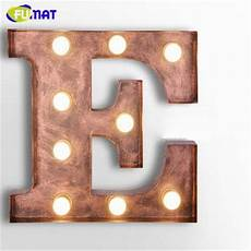 fumat cafe logo wall light letters e wall ls metal