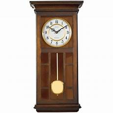 bulova 24 in h 11 5 in w pendulum chime wall clock