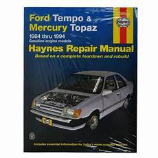 free auto repair manuals 1990 mercury topaz transmission control haynes repair manual for 1984 1994 ford tempo mercury topaz ebay