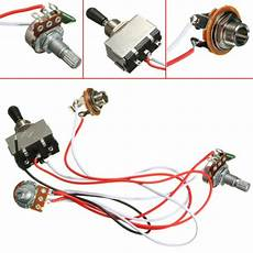 electric guitar wiring harness kit 3 way toggle switch 1 volume 1 tone 500k pot for sale online