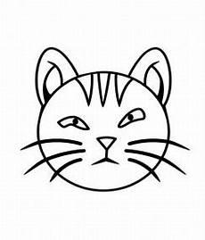 Katzengesicht Malvorlage Cat Coloring Child Coloring