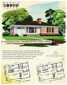 vintage ranch house plans 1956 national plan service r 157 ranch exterior ranch