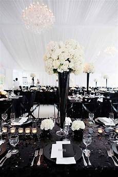 elegant black and white wedding theme includes with decorations cakes and invitations
