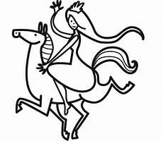Malvorlage Prinzessin Pferd Ausmalbild Prinzessin Prinzessin Auf Ihrem Pferd