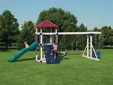 kid swing set swing sets maintenance free vinyl outdoor playsets