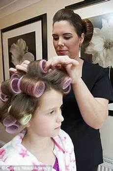 mom puts curlers in boys hair tommy s mother insisted on him being set at the salon now that he was old enough salon boi s