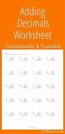 decimals worksheets mlc 7205 adding decimals worksheet customizable and printable decimals worksheets adding decimals