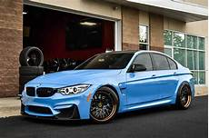 Bmw M3 F30 - sky blue bmw m3 f30 on avant garde sport wheels carid