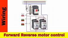 how to wire forward motor control and power circuit youtube