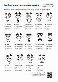 adjectives for feelings and emotions spanish worksheet