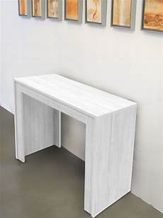 tavolo a mensola tavolo consolle allungabile fino a 3mt bianco frassinato