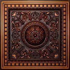 Antique Copper D215 Pvc Ceiling Tiles Tin Look Drop In 2x2