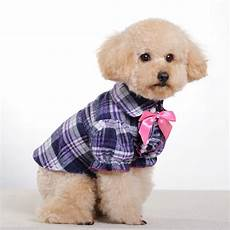 puppy clothes for small dogs bins small middle clothes purple grid butterfly bow pet