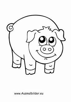 ausmalbild gl 252 ckliches schwein ausmalbilder basteln