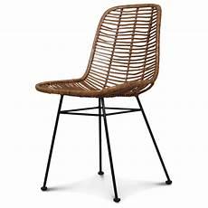 Chaise Design Metal Et Rotin Malaka Demeure Et Jardin