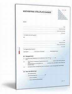 Mietvertrag Garage Muster by Mietvertrag Garage Kostenlos Ausdrucken Fein Mietvertrag