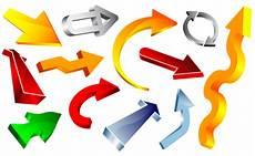 clipart frecce colorato frecce 3d vettoriale gratis clipart picture