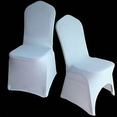 100pcs wholesale universal white chair cover spandex lycra hotal banquet party wedding chair
