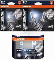 h7 osram breaker unlimited headlight bulbs single