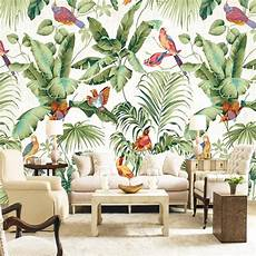 papier peint panoramique design custom mural wallpaper european style tropical rainforest