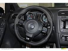 2013 Volkswagen Golf R 4 Door 4motion Titan Black Steering