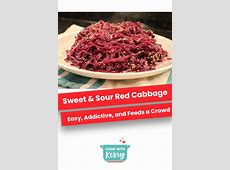 amish sweet and sour red cabbage_image